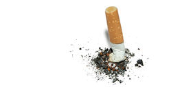 Smetta di fumare la priorità bassa con copyspace Fotografia Stock Libera da Diritti