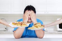 Smetta di mangiare gli alimenti industriali Fotografia Stock Libera da Diritti