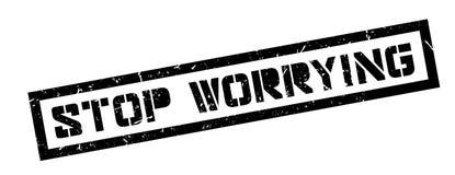 Smetta di preoccupare il timbro di gomma immagini stock libere da diritti