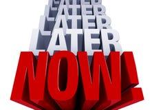 Smetta di procrastinare Immagini Stock Libere da Diritti