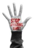 Smetta di sprecare il tempo Immagine Stock