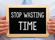 Smetta di sprecare il tempo Fotografia Stock Libera da Diritti