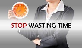 Smetta di sprecare il tempo, concetto di affari Fotografie Stock Libere da Diritti