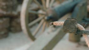Smeulende zekering van het kanon stock videobeelden