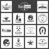 smid Reeks uitstekende typografieaffiches, etiketten en drukken Stock Foto's