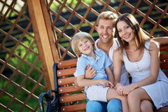 Smiing family Stock Photography