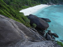 Smilan island, near Thailand. Blue sea, white beach and dark stone.Its very beautiful, awesome. Breathtaking. I like traveling and i was in Thailand, there i saw Stock Photos