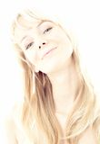 Smile. Hi-key image of smiling blond Stock Photography