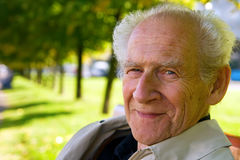 Smile. Face portrait of an old smiling man Stock Image