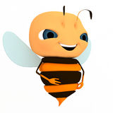 Smile. 3d character like a smile bee Stock Photography