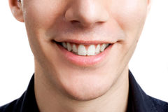 Smile. Close-up portrait of a beautiful male smile Stock Photos