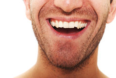 Smile. Man with happy facial expression Stock Image