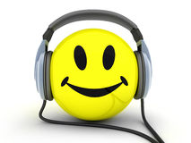 Smile. Y and music (done in 3d, isolated Stock Images