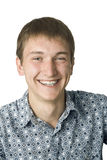Smile. Portrait of the smiling young man on the isolated white background Stock Image