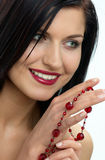 Smile. Portrait of lady with jewels stock photos
