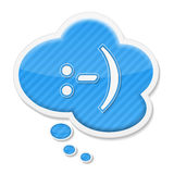 Smile. Speech bubble with abstract text smile Royalty Free Stock Image