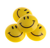 Smile. A smiling symbol from the plastic, isolated on a white background Stock Photo