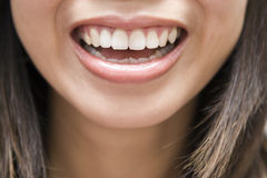 Smile. Asian woman having a great smile royalty free stock photos