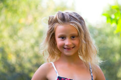 Smile. Summer vacation, portrait of childhood Royalty Free Stock Image
