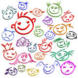 Smile. This illustration may be usefull as designer work Royalty Free Stock Photo