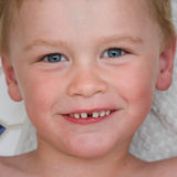 Smile. Cute boy with big smile Royalty Free Stock Image