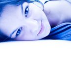 Smile Abstract. Young woman smiling Royalty Free Stock Photos