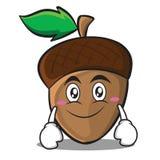 Smile acorn cartoon character style Stock Photo