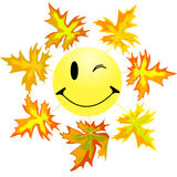 Smile And Maple Leaf 1 Stock Photography