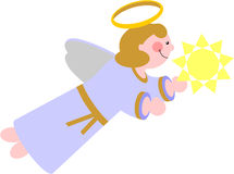 Smile angel  in color 04 Stock Photography