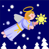 Smile angel  in color 06 Royalty Free Stock Photos