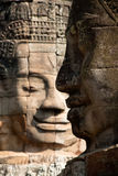 Smile. Angkor Thom, located in present day Cambodia, was the last and most enduring capital city of the Khmer empire. It was established in the late twelfth Royalty Free Stock Photography