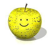 Smile apple Royalty Free Stock Image