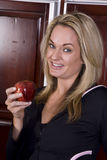Smile apple eat Stock Images