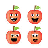 Smile apples Royalty Free Stock Photos
