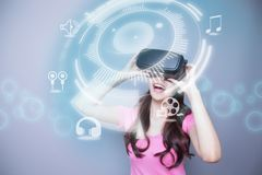 Audio and video VR experience Royalty Free Stock Photos