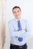Smile asian business man standing Stock Photos