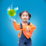 Smile Asian Engineer baby gir Stock Photo