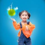 Smile Asian Engineer baby gir Stock Photo