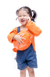 Smile Asian Engineer baby girl Stock Photo