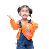Smile Asian Engineer baby girl Stock Image