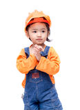 Smile Asian Engineer baby girl Stock Photography