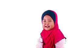 Smile Asian Girl toddler  with isolated background Stock Photo