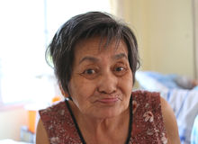 Smile of asian old woman. Royalty Free Stock Images