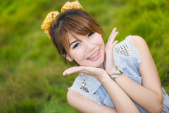 Smile of Asian woman Stock Photography