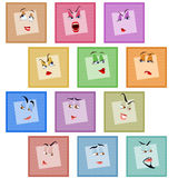 Smile Avatar Icon Sticker Emotion Valentines Face Set Royalty Free Stock Image