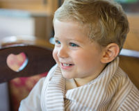 Smile baby boy at restaurant Stock Images