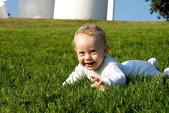 Smile Baby on grass Royalty Free Stock Photography