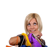 Smile with bags Stock Photography