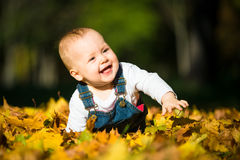 Smile - beautiful fall sunny day Stock Photography