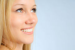 Smile beautiful woman Royalty Free Stock Photos